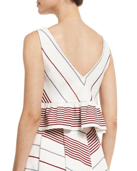 Annaline Striped Crop Top, Multi Colors