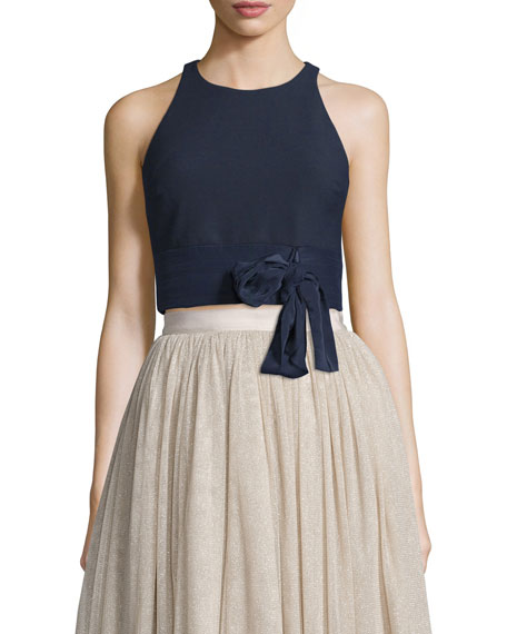 Elizabeth and James Eniko Sleeveless Crop Top, French