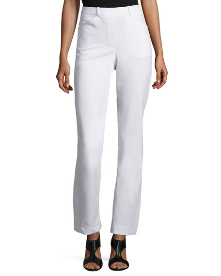 Halston Heritage Slim Boot-Cut Pants with Side Slits