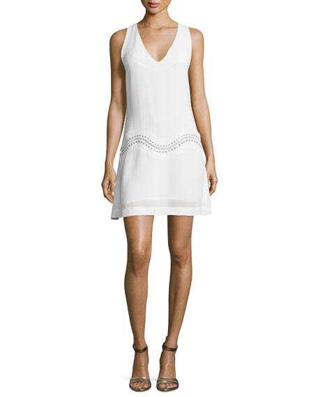 Ramy Brook Kinsley Sleeveless A-Line Dress, White