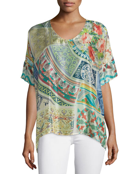 Johnny Was Collection Neill Oversized Printed Tunic
