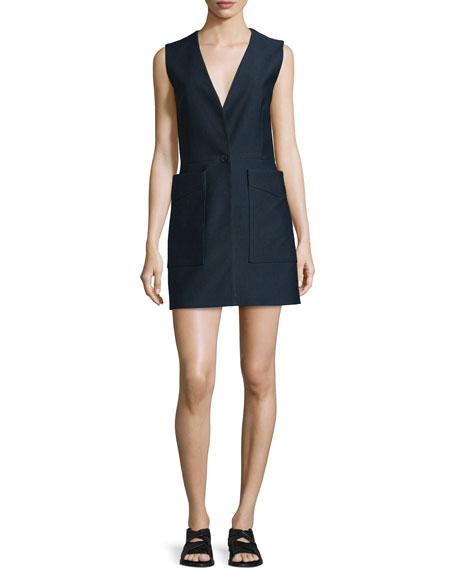 Rag & Bone Fleet Sleeveless Cotton-Blend Dress, Salute