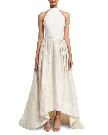 Theia Halter High-Low Gown