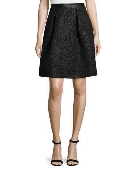 Nicole Miller Artelier Animal-Print Fit & Flare Skirt