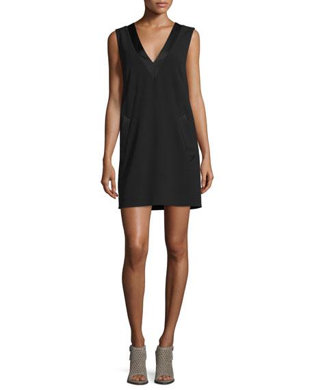 Rag & Bone Phoebe Sleeveless Crepe Dress, Black