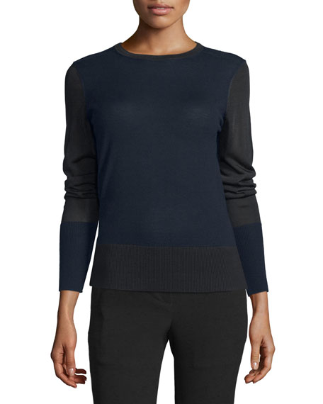 Rag & Bone Sabine Mixed-Knit Pullover Sweater, Salute
