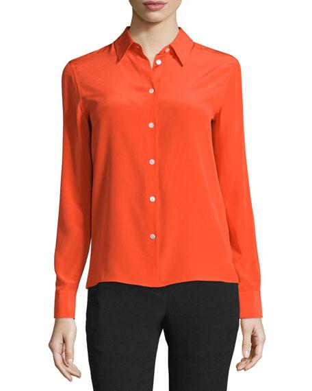 Rag & Bone Poppy Silk Button-Front Shirt, Sunburst