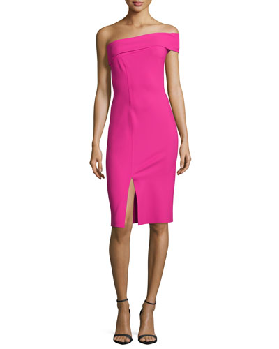 One-Shoulder Cocktail Dress W/ Slit