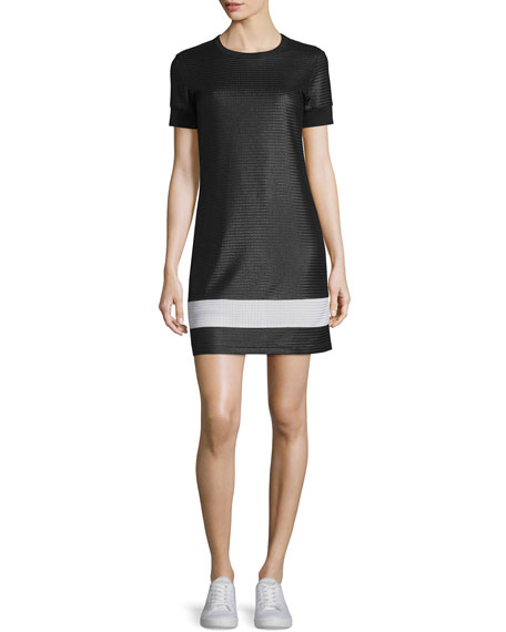 Rag & Bone Valerie Mesh Mini Dress, Black/White