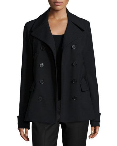 Joanta Faded Button-Down Jacket, Black