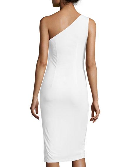 One-Shoulder Ruched Cocktail Dress