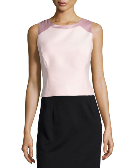 Halston Heritage Sleeveless Structured Top, Sorbet