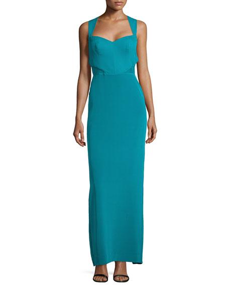 Nicole Miller Sleeveless Sweetheart Column Gown
