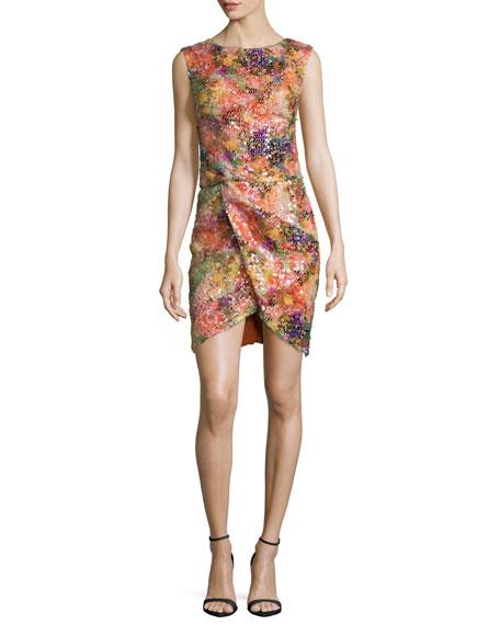 Nicole Miller Sleeveless Embellished Sheath Dress, Multi Colors