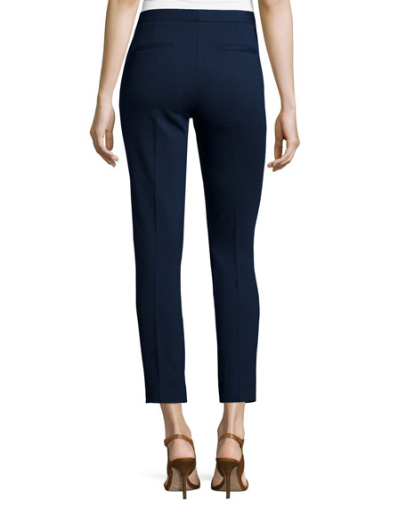 Alexandra Cigarette Pants with Zippers