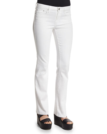 Vince Charlotte Slim-Straight Pants, Optic White