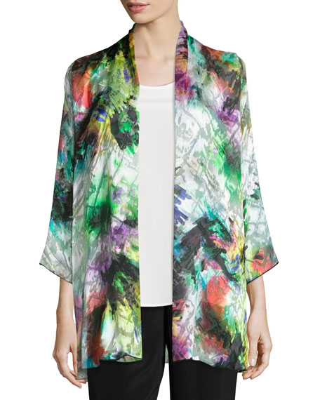 Caroline Rose Light Show Devore Mid-Length Cardigan/Jacket