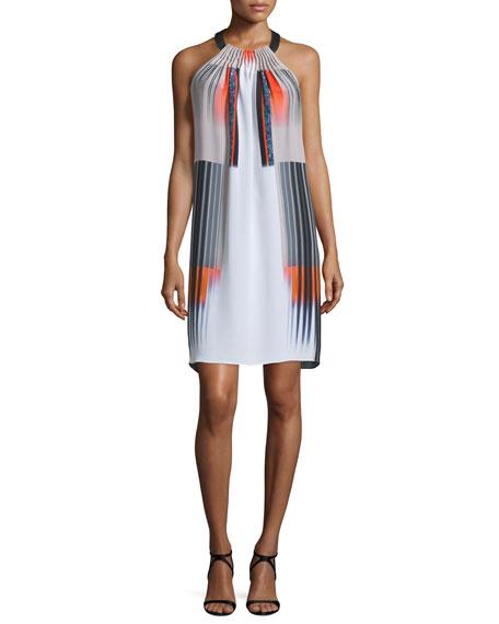 Kobi Halperin Adrienne Halter-Neck Printed Dress, Blood Orange