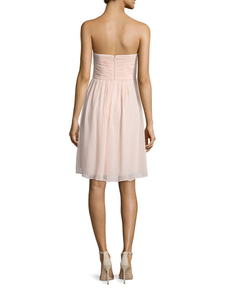 Strapless Ruched Cocktail Dress