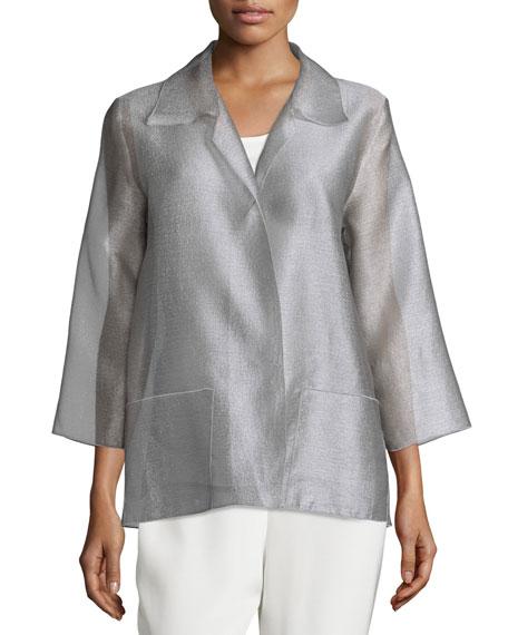 Caroline Rose Occasion Organza Easy Shirt, Platinum