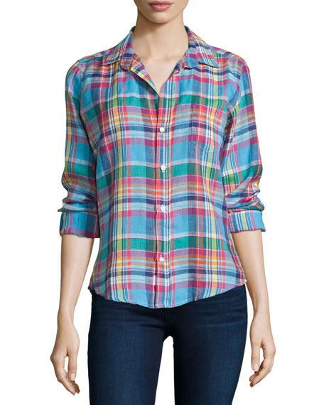 Barry Long-Sleeve Plaid Shirt, Multi Colors