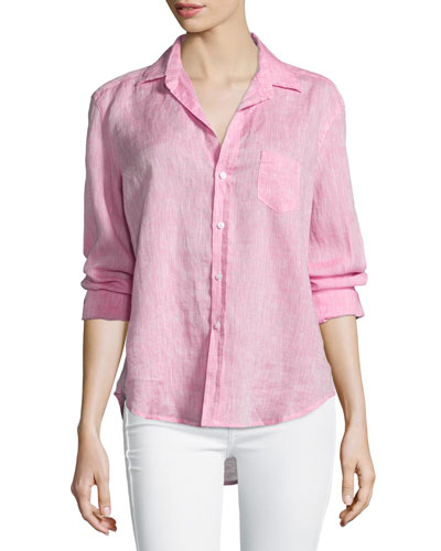 Eileen Button-Front Shirt, Pink