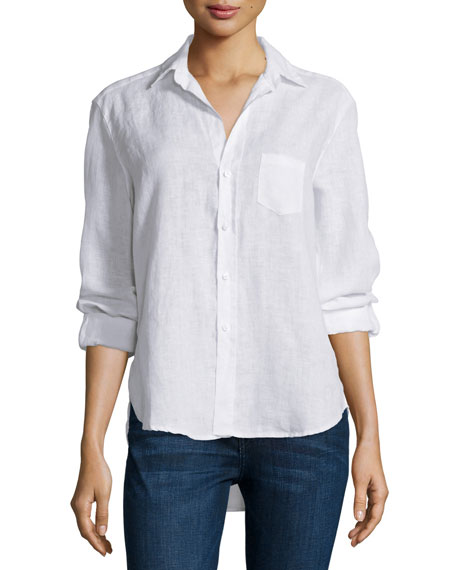 Frank & Eileen Eileen Button-Front Shirt, White