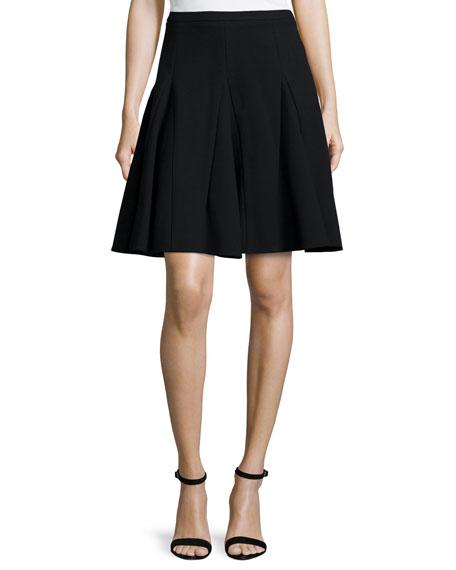 Ponte Circle Skirt, Black