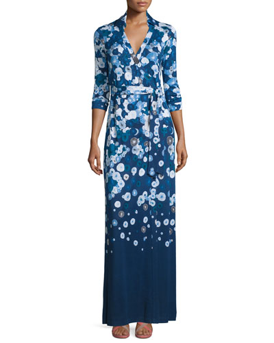 Diane von Furstenberg Abigail Floating Flowers Silk Maxi