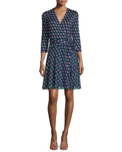 Diane von Furstenberg Irina Zen Flora Wrap Dress,