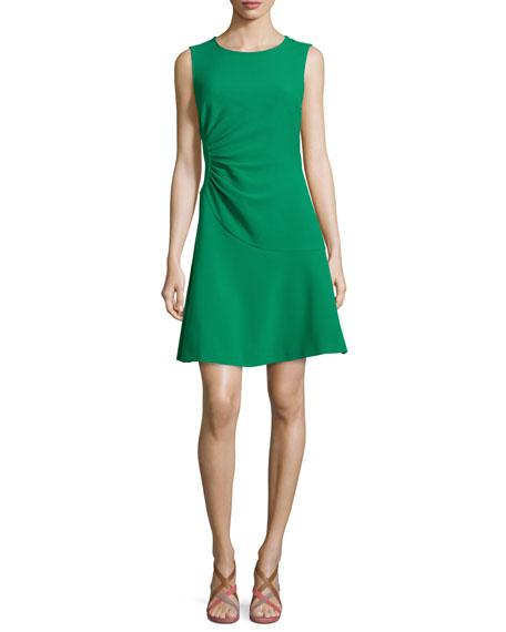 Diane von Furstenberg Dayna Crepe A-Line Dress, Emerald