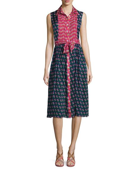 Diane von Furstenberg Nieves Zen Floral A-Line Dress,