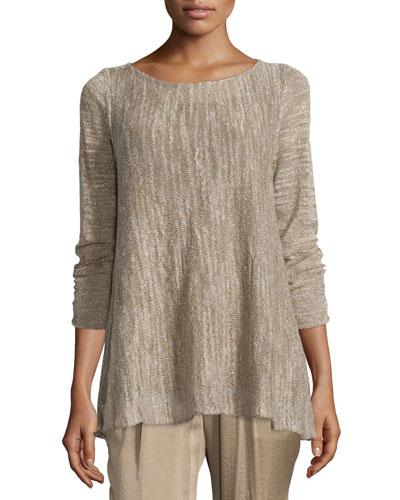Layered Sweater W/ Georgette Tank