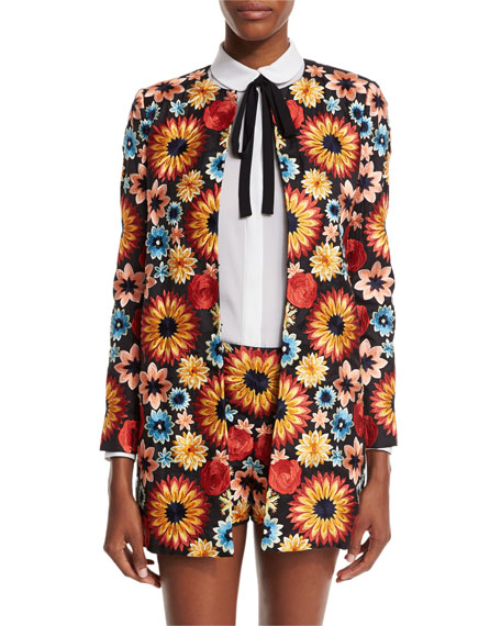 Alice + Olivia Rory Floral Embroidered Jacket, Multicolor