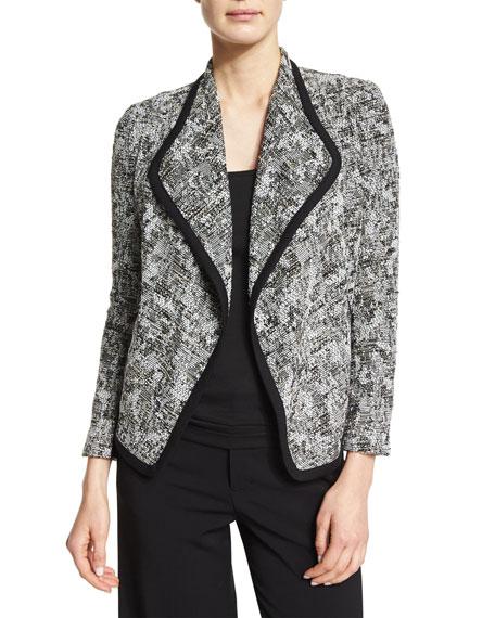 Vince Draped-Front Boucle Jacket