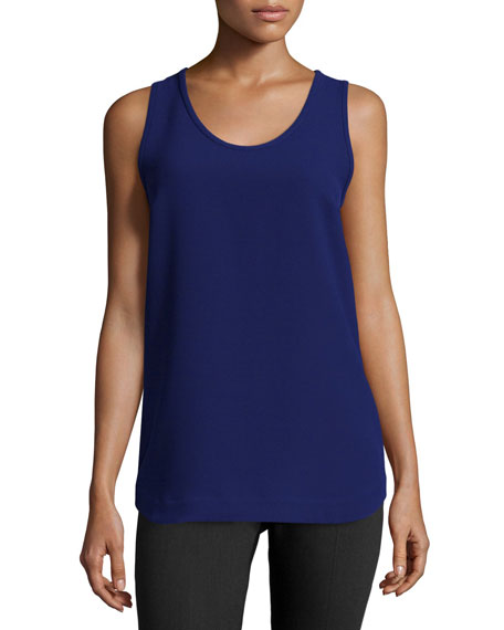 Jil Sander Navy Scoop-Neck Slim-Fit Tank, Blue