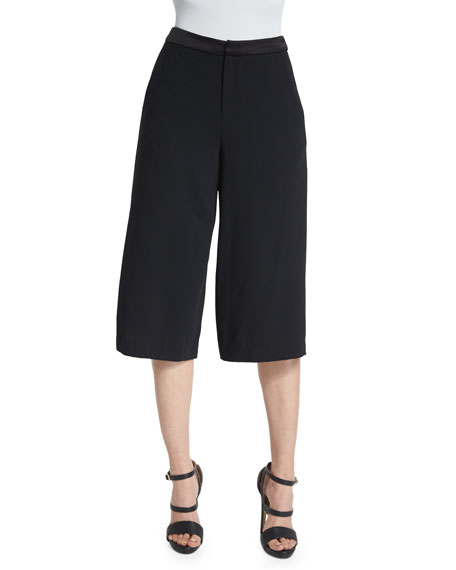 Alice + Olivia Marlena Low-Rise Gaucho Pants, Black