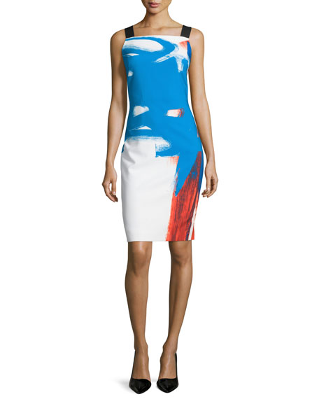 Milly Lou Lou Sleeveless Abstract Dress, Multi Colors