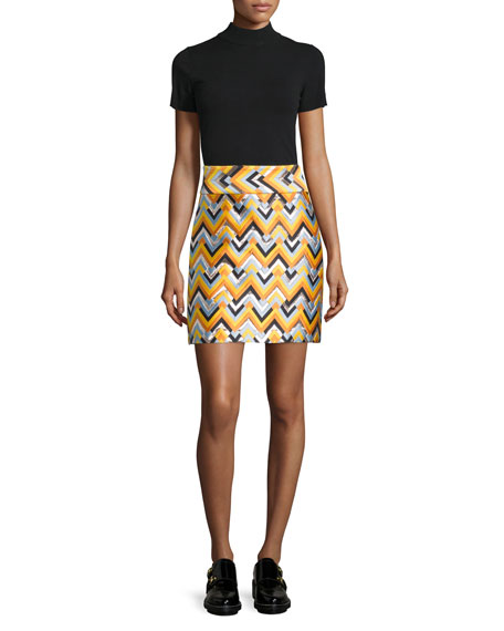 milly chevron a line skirt multi colors