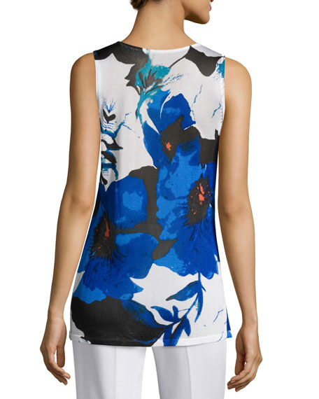 Lapis of Luxury Floral Tank, Petite