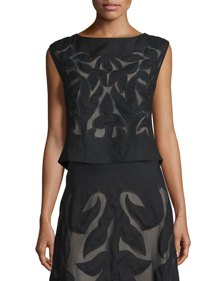 NIC+ZOE Special Edition Secret Garden Sleeveless Top, Black,