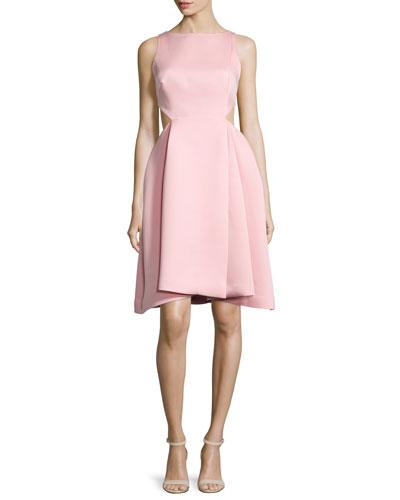 Ali Sleeveless Side-Cutout Dress, Parfait Pink