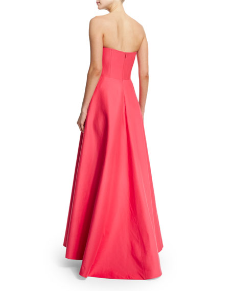 Strapless Structured Gown W/ Pockets