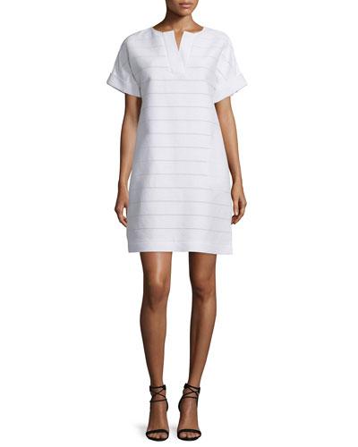 Nazeen Short-Sleeve Shift Dress