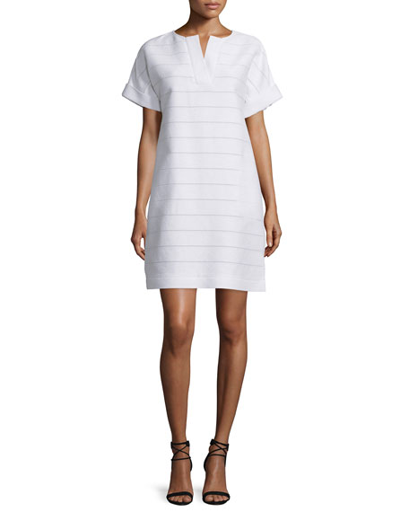 Lafayette 148 New York Nazeen Short-Sleeve Shift Dress