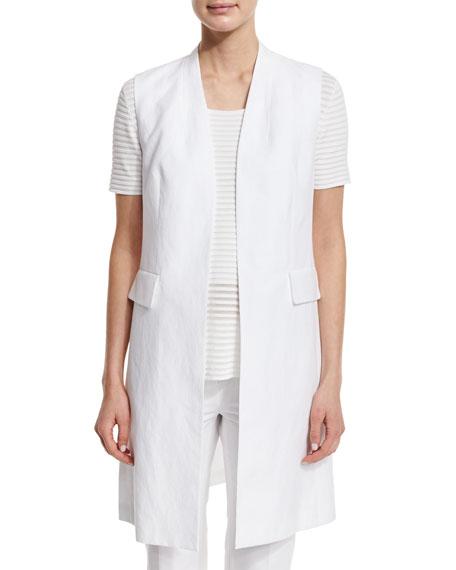 Leticia Long Woven Vest