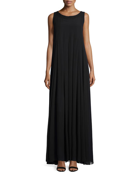 Lafayette 148 New York Evandeline Sleeveless Pleated Maxi Dress