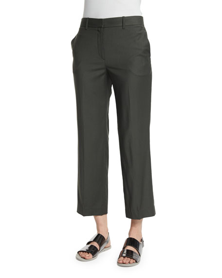 Theory Lavzin Continuous Cropped Pants, Fir