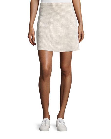 Theory Teslia J Glossed Printed Skirt