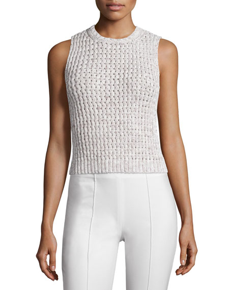 Theory Malda Meridian Textured Sleeveless Sweater